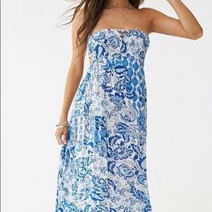 Forever 21 paisley maxi dress small